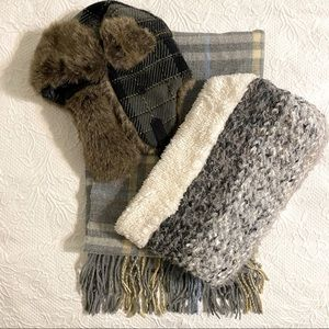 The Cozy Winter bundle! 2 scarves and trapper hat
